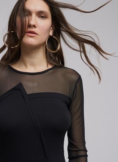 Üstü Tül Detaylı Elbise-People By Fabrika